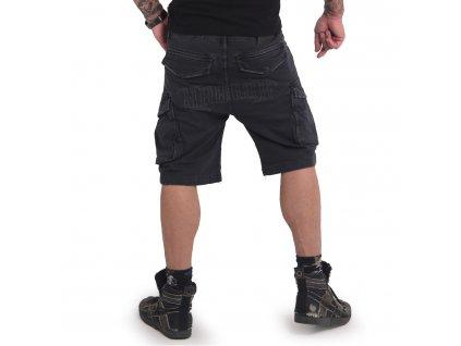 Yakuza cargo šortky OLD FIRM CARGO CSB 16048 black