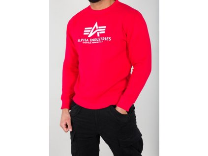 Alpha Industries mikina Basic Sweater speed red