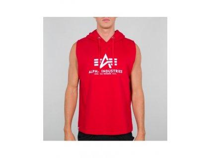 Alpha Industries HOODED TANK pánske tielko s kapucňou speed red