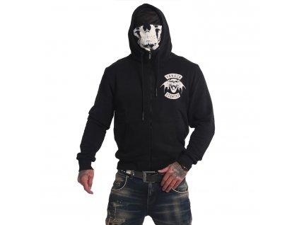 Yakuza 893MC NINJA mikina na zips HZB 16086 black s tvárovou maskou