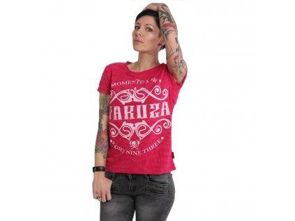 Yakuza MEMENTO MORI BURNOUT dámske tričko GSB 14133 rose red