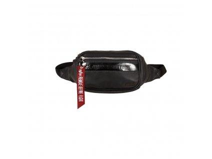 Alpha Industries RBF LEATHER WAIST BAG black kožená ľadvinka taška g
