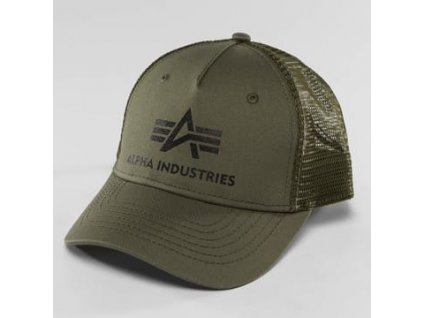 Alpha Industries Basic Trucker Cap šiltovka dark green