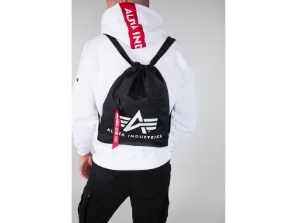 Alpha Industries Alpha Gym Bag Black vrecko na obuv a