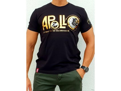 Alpha Industries Apollo 50 PM T black tričko pánske​​​​​​​