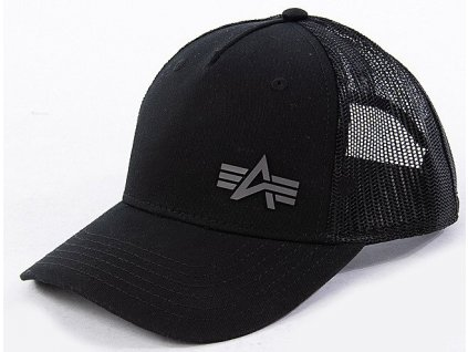 Alpha Industries Trucker Cap Small logo šiltovka black a