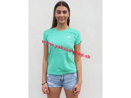 Alpha Industries Basic Small Logo T Wmn pastel mint dámske tričko