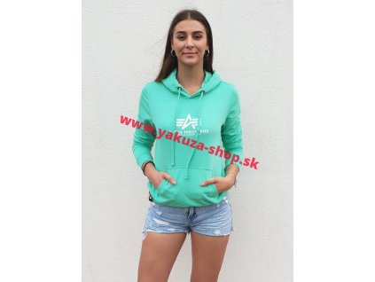 Alpha Industries dámska mikina New Basic Hoody Wmn pastel mint