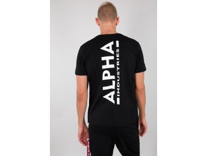 Alpha Industries BACKPRINT T black tričko pánske