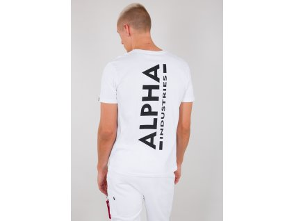 Alpha Industries BACKPRINT T white tričko pánske