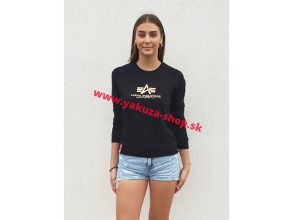 Alpha Industries dámska mikina New Basic Sweat Wmn Foil Print black metalgold