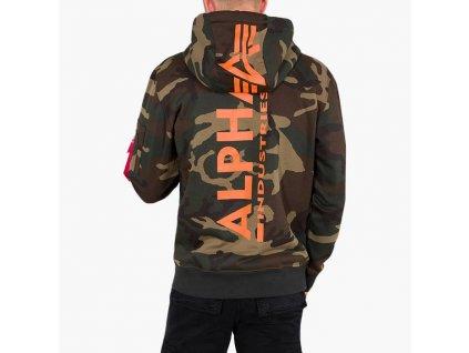 Alpha Industries Back Print Hoody pánska mikina woodl camo