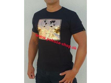 Alpha Industries LUNAR PLAQUE T black tričko pánske