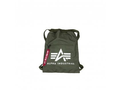 Alpha Industries Alpha Gym Bag Sage green vrecko na obuv