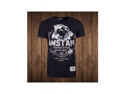 Amstaff tričko VINTAGE NERES black Slim