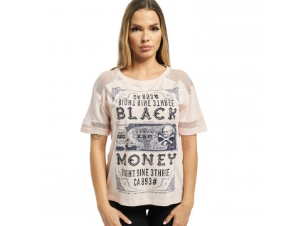 Yakuza dámske tričko BLACK MONEY GSB 14137 crystal pink f