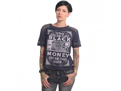 Yakuza dámske tričko BLACK MONEY GSB 14137 parisian night