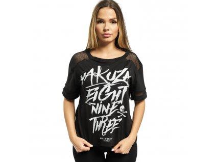 Yakuza dámske tričko ENT PANELLING BOX FIT GSB 14136 black f