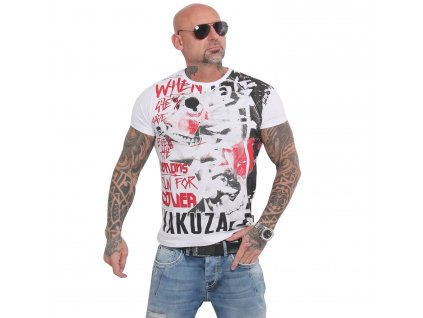 Yakuza RUN FOR COVER tričko pánske TSB 16013 white
