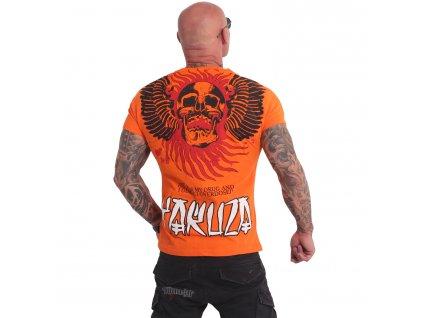 Yakuza BURNING SKULL tričko pánske TSB 16024 redorange