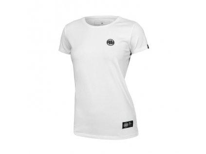 PitBull West Coast dámske tričko LYCRA SMALL LOGO white