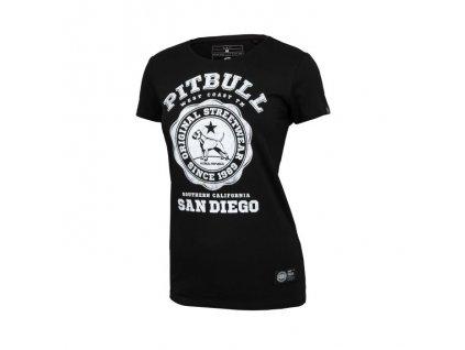 PitBull West Coast dámske tričko UNIVERSITY LOGO black