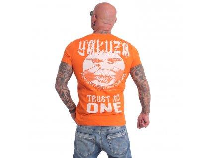 Yakuza tričko TRUST NO ONE pánske TSB 16028 red orange