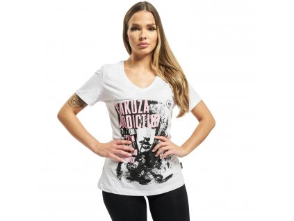 Yakuza ADDICTION V NECK dámske tričko GSB 16123 white f