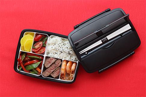 Jak oddělit jídlo od sebe uvnitř bento boxu?