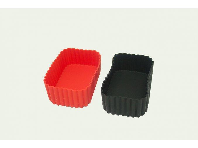 Obdélníkové silikonové formy | červená a černá