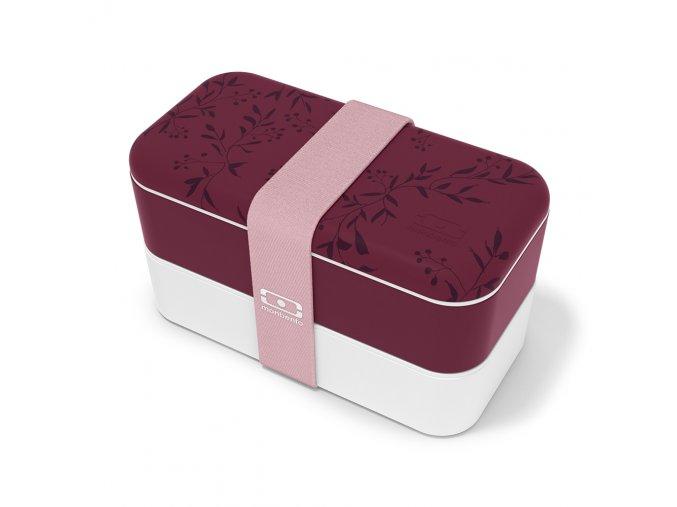 1 obedovy box monbento original winter berry fialovo bila