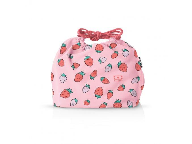 1 taska monbento pochette strawberry ruzovo bila