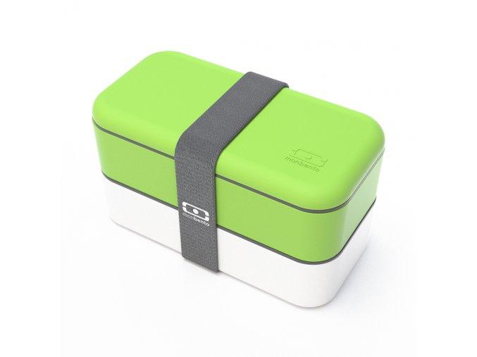 obedovy box monbento original zeleno bily