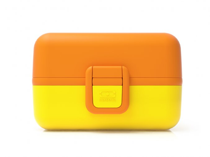 svacinovy box monbento tresor zluto oranzovy