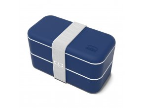 0 obedovy box monbento original navy modry
