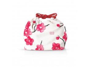 1 taska monbento pochette blossom cervene kvety