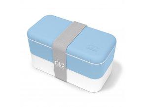 1 obedovy box monbento original crystal svetle modra