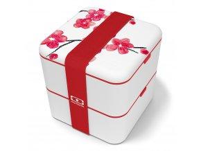 2 obedovy box monbento blossom cervene kvety