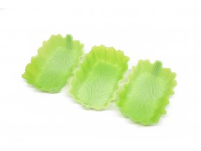 1 silikonove formy s motivem listu zelene
