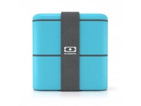 obedovy box monbento square svetle modry