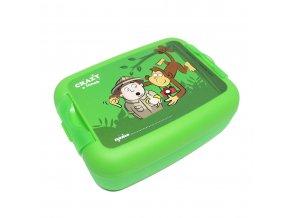 1 svacinovy box crazy velky zeleny