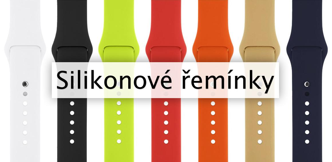 Silikonové řemínky pro Apple Watch