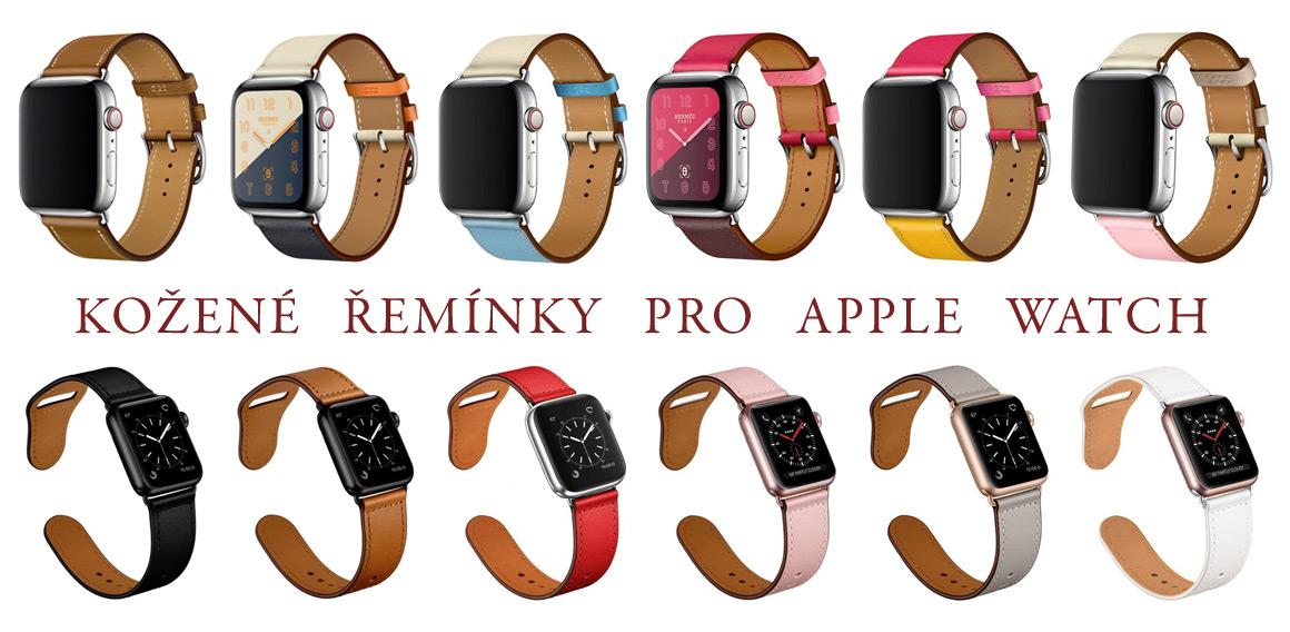 Kožené řemínky pro Apple Watch