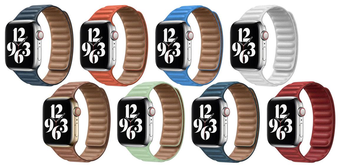 Kožené řemínky pro Apple Watch s magnetickým upínáním
