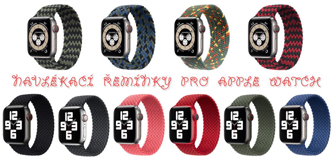 Navlékací řemínky pro Apple Watch tkané nylonové
