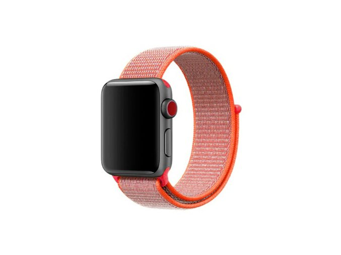oranzovocerveny provlekaci reminek na suchy zip pro apple watch