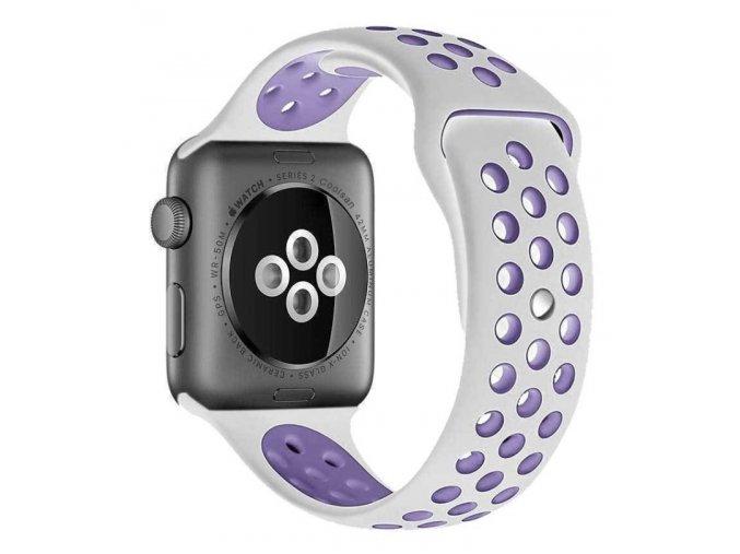 bilofialovy silikonovy reminek pro apple watch