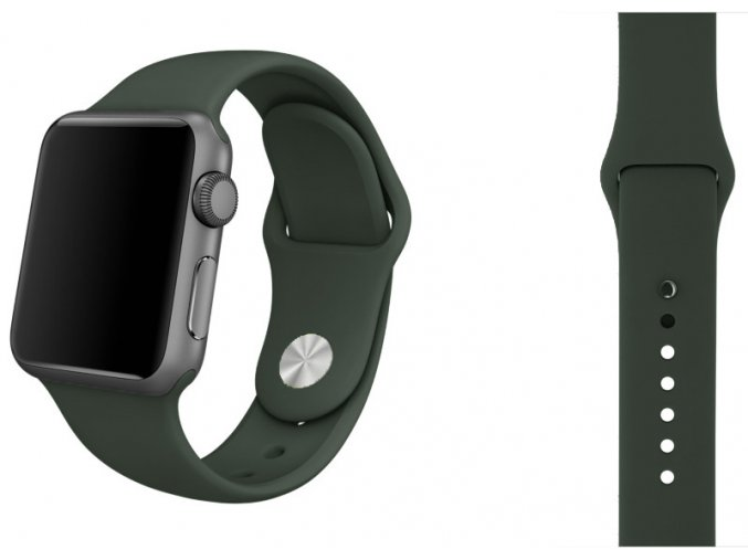 silikon apple watch reminek temne olivovy 2