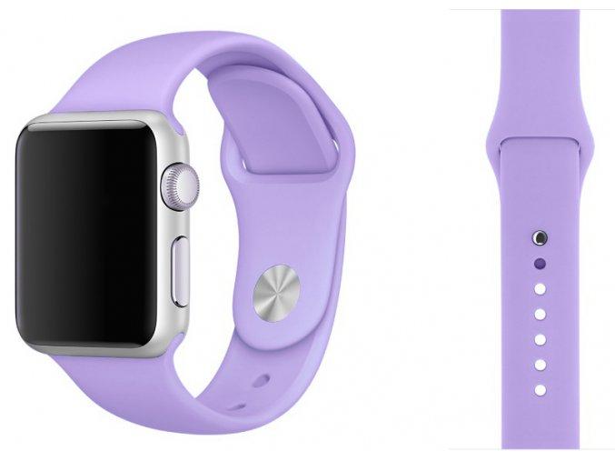 lila silikonovy reminek pro apple watch 38 mm