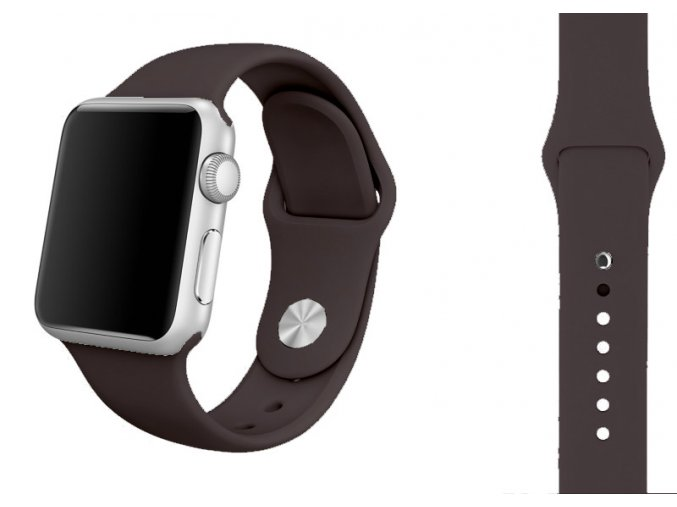 sedy silikonovy reminek pro apple watch